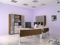 Офис във кафяво